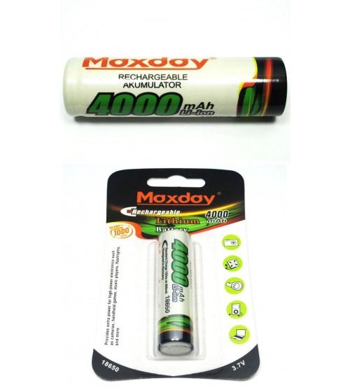 Li-ion батерия 18650 3.7V 4000mAh MAXDAY
