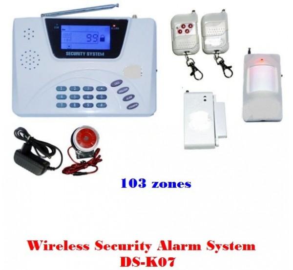 Безжична GSM аларма K7 с LCD дисплей и вграден GSM модул
