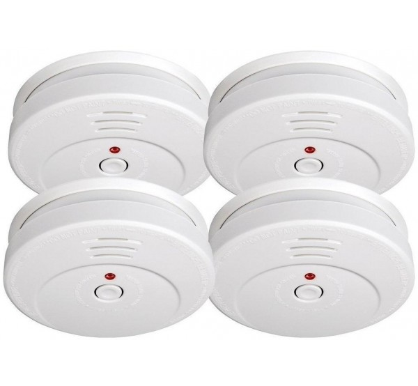 Комплект 4 броя Smartwares детектори за дим RM149/4