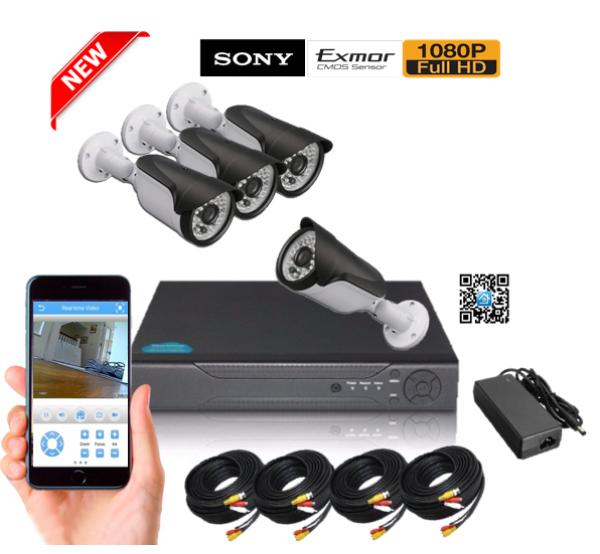 542d8076e24 FULL HD комплект с 4 IR камери и Видеорекордер DS-2MPHD-H622