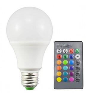 d6630becb33 Цветна RGB LED крушка E27-2 с дистанционно управление