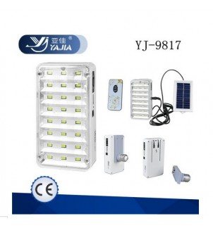 Соларна LED лампа YJ-9817 с дистанционно