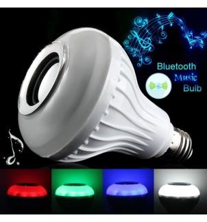 Цветна Bluetooth LED крушка с високоговорител RGB-E27