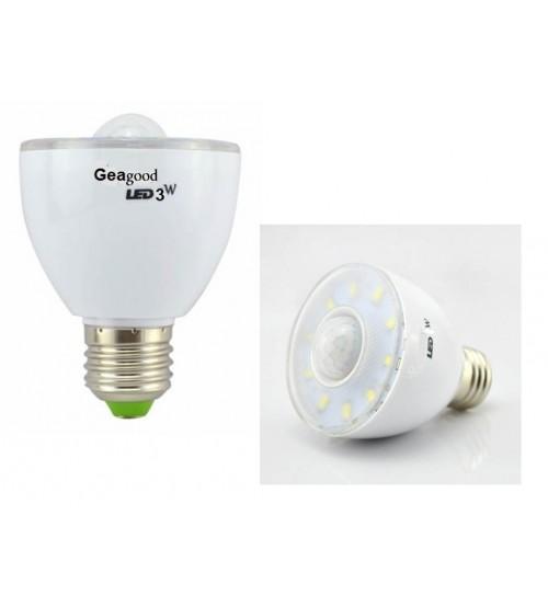 LED крушка с датчик за движение 3W