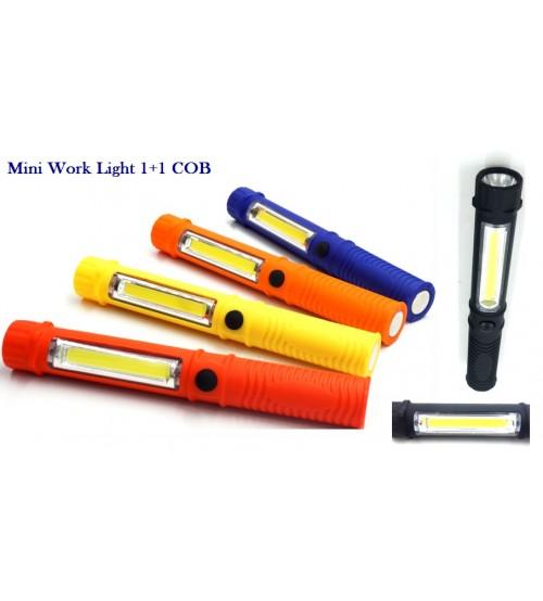 Мини аварийна LED лампа COB 1+1