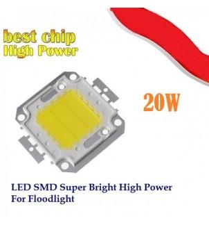LED диод 20W студено бял