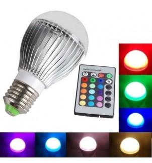 Цветна LED крушка AO-1811 с дистанционно