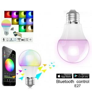 Цветна Smart LED крушка  с Bluetooth E-45