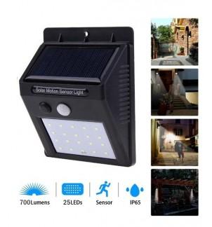 Соларна LED лампа 25W с PIR датчик