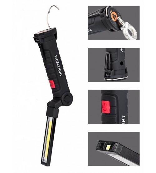 Акумулаторна USB работна лампа W-52 COB
