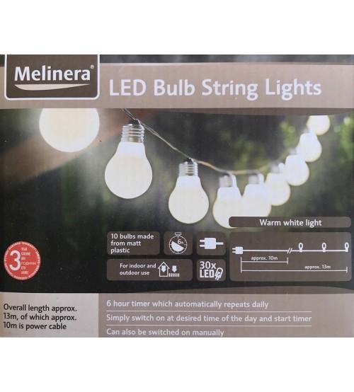 Melinera 10 LED лампи с топла дневна светлина