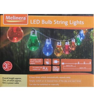 Melinera 10 LED цветни лампи
