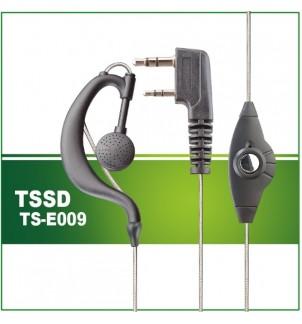 Слушалка DS-E009 за радиостанция със силиконов кабел