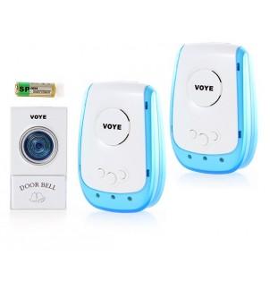 Безжичен домашен звънец с два музикални известителя DS-V009A2
