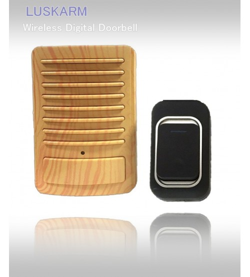 Електронен звънец с елегантен дизайн имитиращ дърво DS-3909