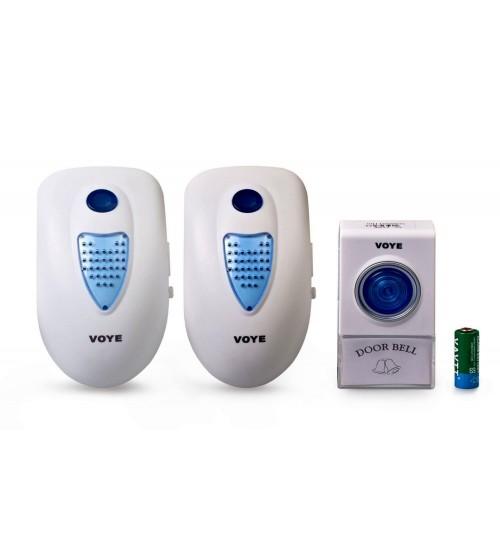 Двоен безжичен звънец с LED индикация DS-V003A2