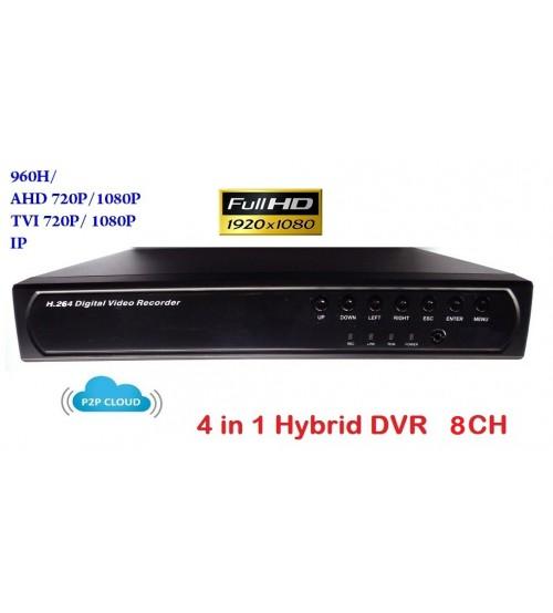 8 канален видео рекордер DVR 4 в 1 XVR-7608L