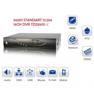 16 канален видео рекордер DVR TD2316SE-C 960H