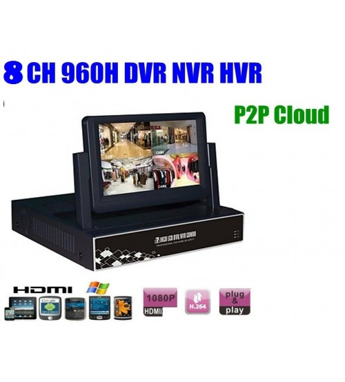 8 канален видео рекордер DVR DS-5008 LCD 7