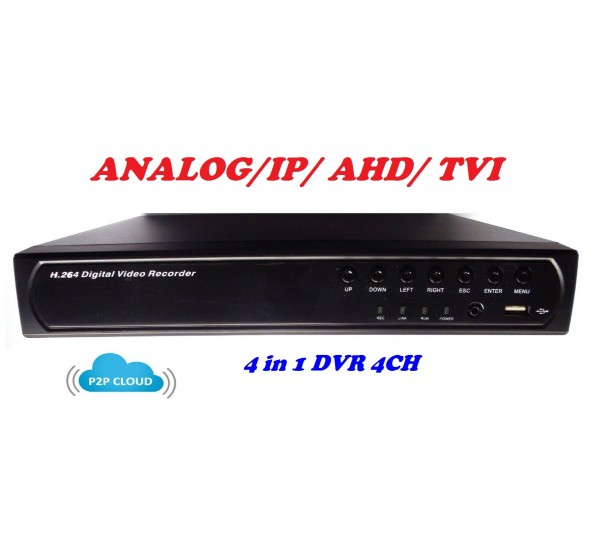 4 канален видео рекордер DVR 4 в 1 DS-6604L