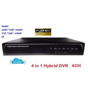 4 канален видео рекордер DVR 4 в 1 XVR-7604L