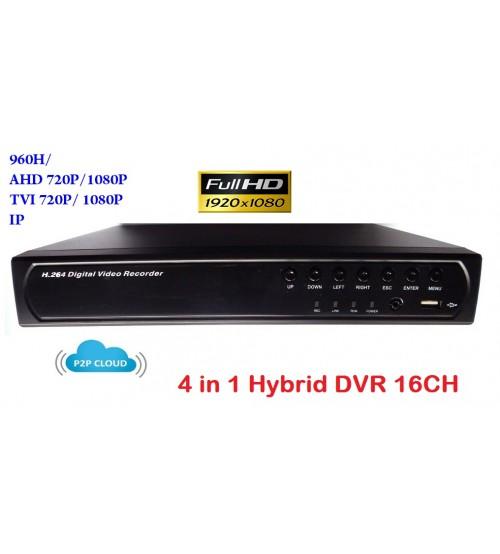 16 канален видео рекордер DVR 4 в 1 XVR-7616L
