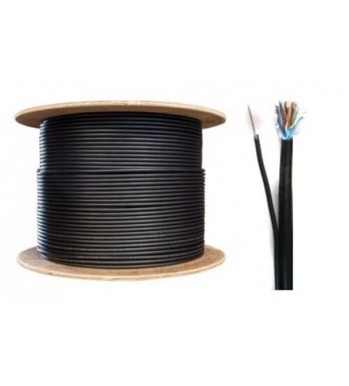 FTP/М Cat5e 24AWG CU меден с носещо карбоново въже