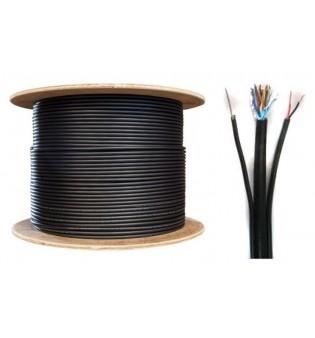 FTP/M Cat5e 24AWG CU+2х0,75мм с носещо въже и захранване