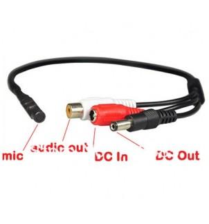 Мини микрофон със захранване M-02