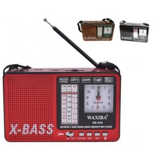 Радиоприемник XB-402 с фенерче и часовник