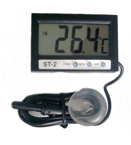 Термометър + часовник DC-01