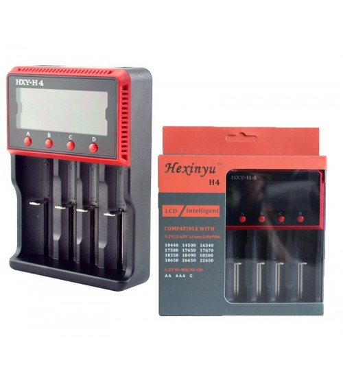 Многофункционално LCD зарядно устройство за акумулаторни батерии HXY-H4