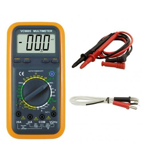Качествен мултиметър VC9805 с измерване на температура и индуктивност